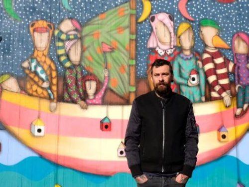 """Street art a Monteviale: Tony Gallo e il suo """"Albero dei desideri"""""""